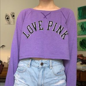 VS LOVE PINK crewneck